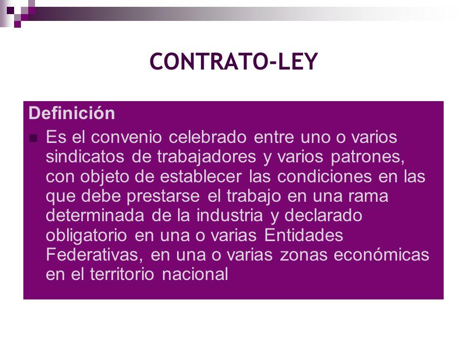 CONTRATO-LEY Definición