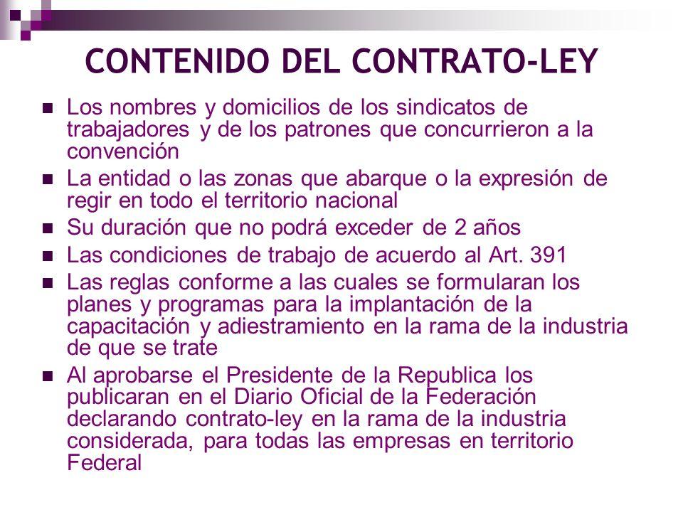CONTENIDO DEL CONTRATO-LEY