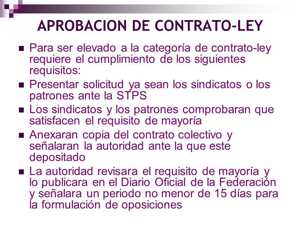 APROBACION DE CONTRATO-LEY