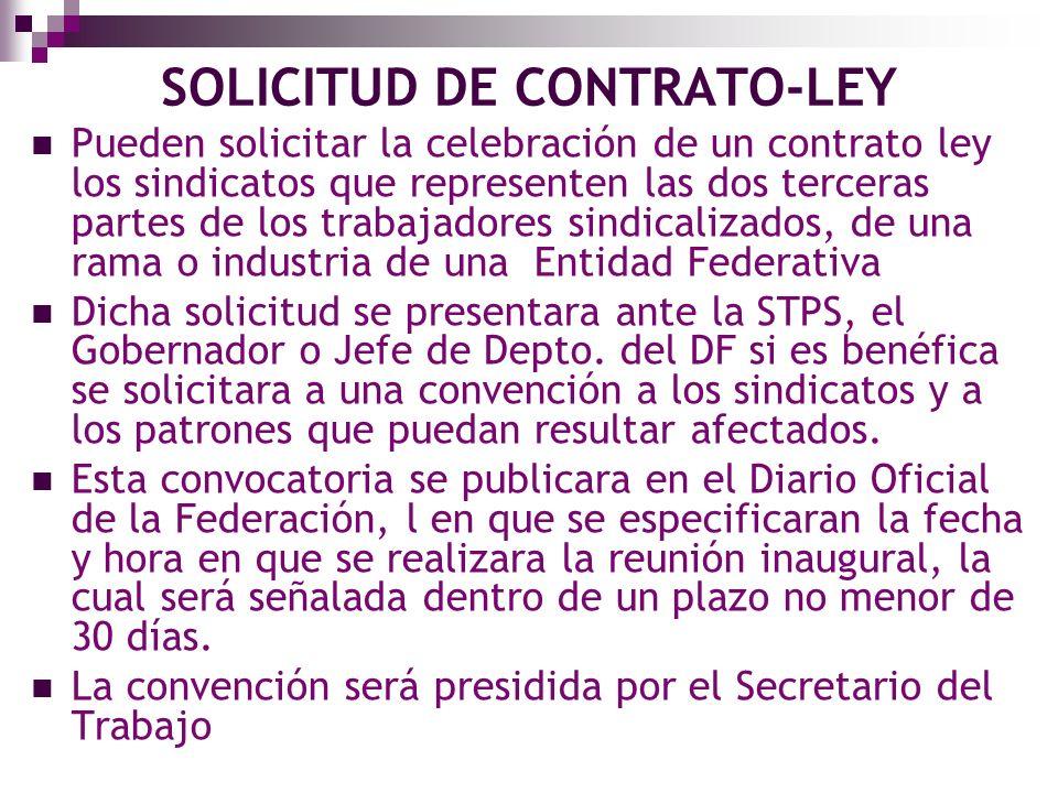 SOLICITUD DE CONTRATO-LEY