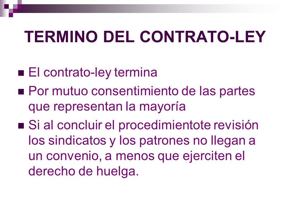 TERMINO DEL CONTRATO-LEY