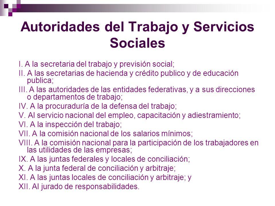 Autoridades del Trabajo y Servicios Sociales
