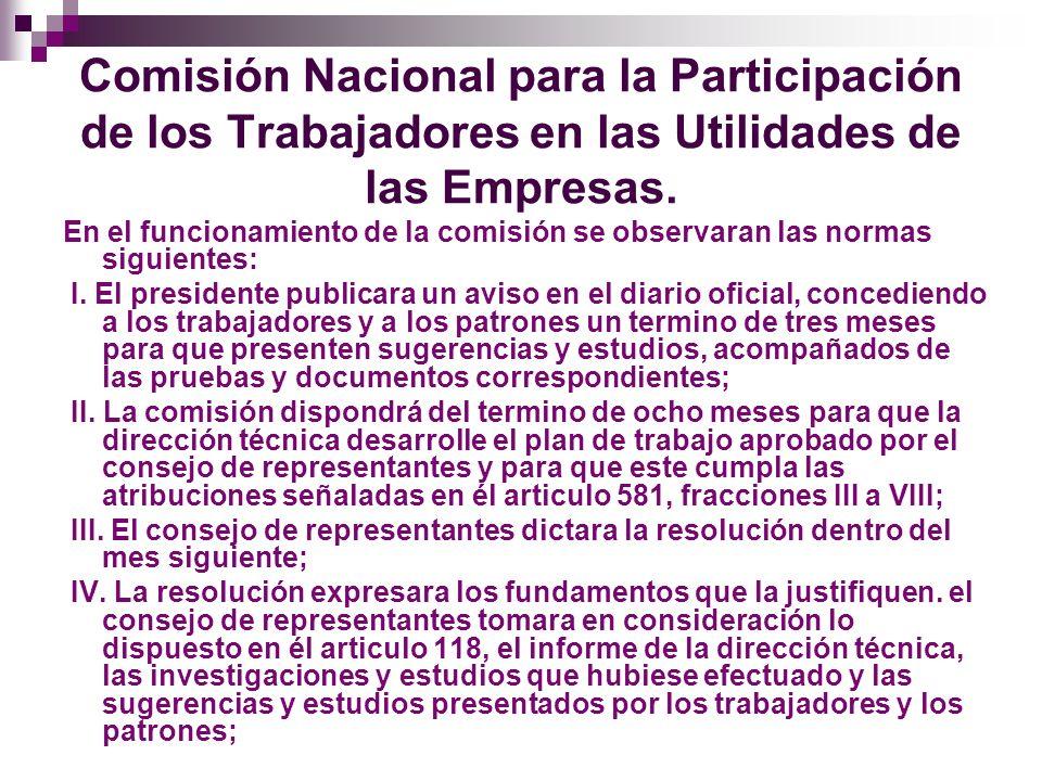 Comisión Nacional para la Participación de los Trabajadores en las Utilidades de las Empresas.