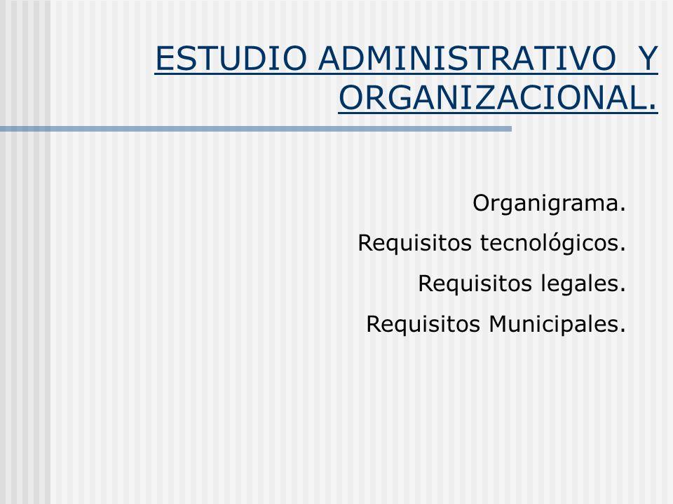 ESTUDIO ADMINISTRATIVO Y ORGANIZACIONAL.
