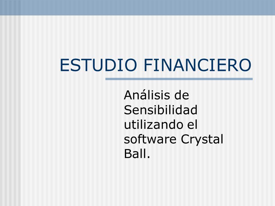 Análisis de Sensibilidad utilizando el software Crystal Ball.