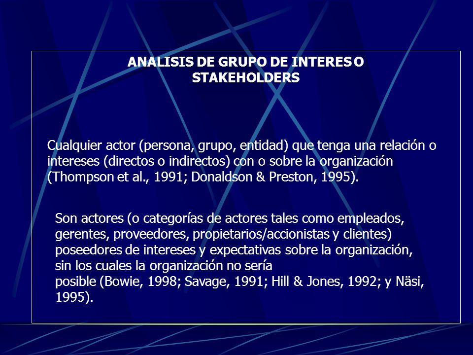 ANALISIS DE GRUPO DE INTERES O