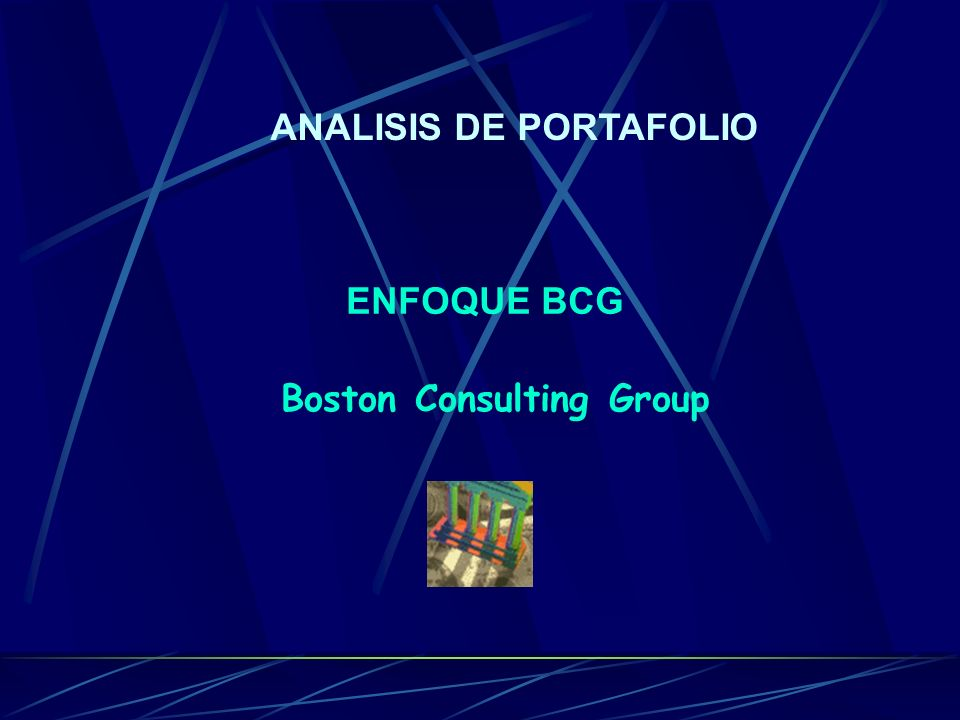 ANALISIS DE PORTAFOLIO Boston Consulting Group