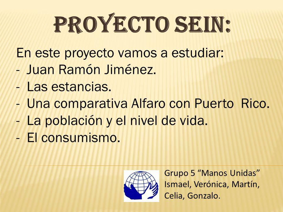 Proyecto Sein: En este proyecto vamos a estudiar: Juan Ramón Jiménez.