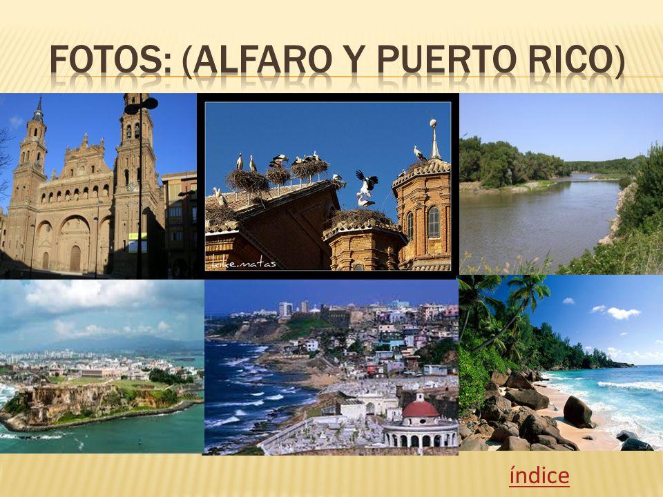 Fotos: (Alfaro y puerto rico)