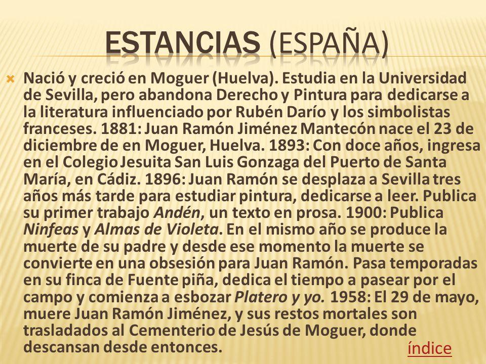 Estancias (España) índice