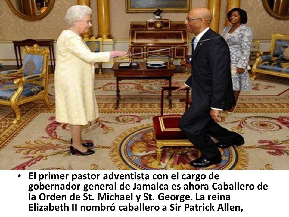 El primer pastor adventista con el cargo de gobernador general de Jamaica es ahora Caballero de la Orden de St.