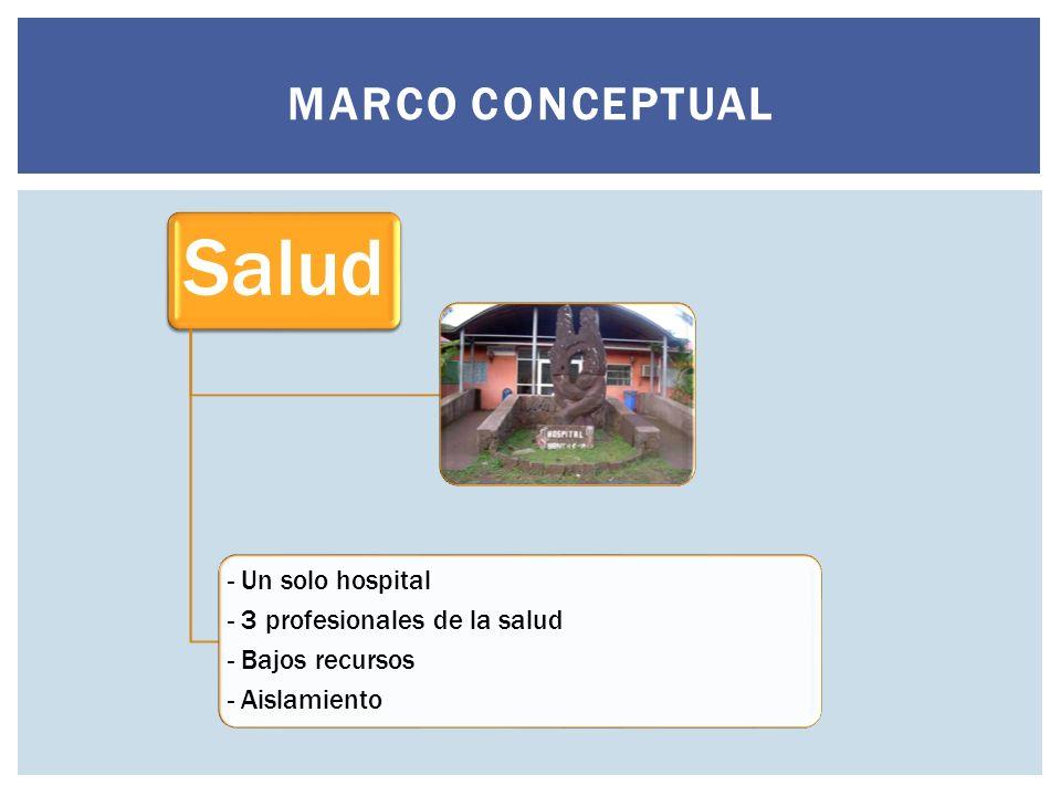 Salud Marco conceptual - Un solo hospital