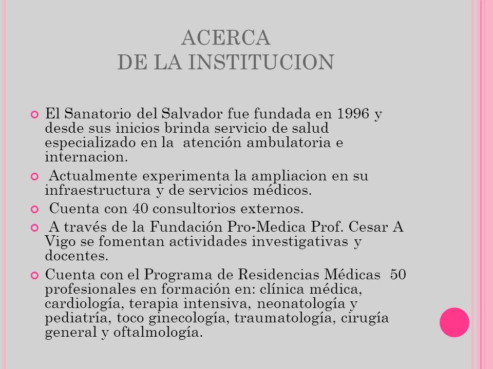 ACERCA DE LA INSTITUCION