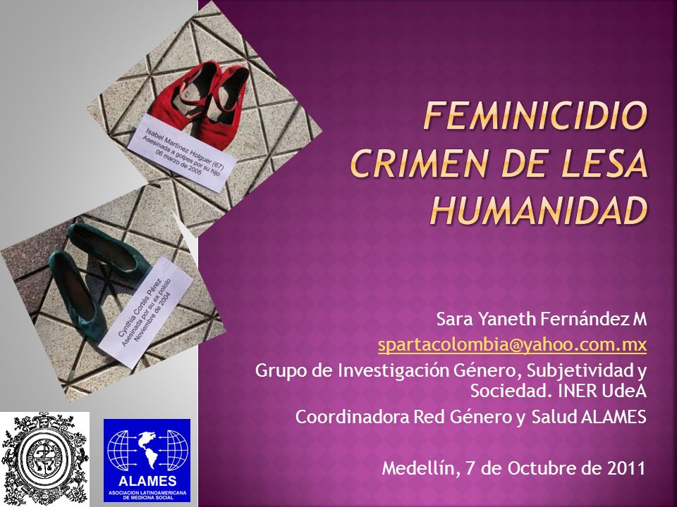 FEMINICIDIO Crimen de lesa humanidad