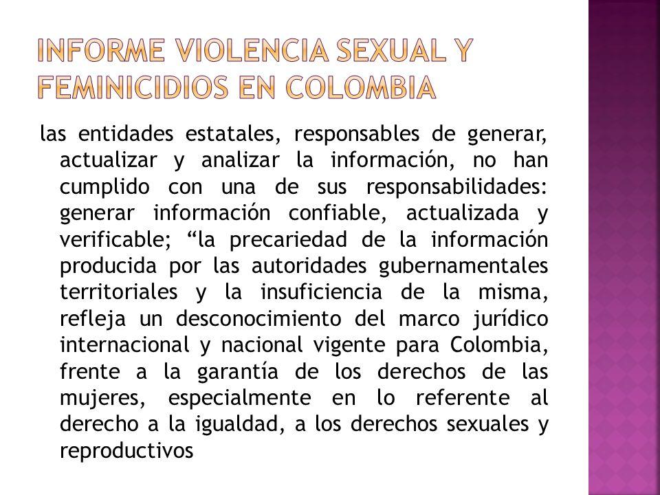 Informe Violencia Sexual y Feminicidios en Colombia