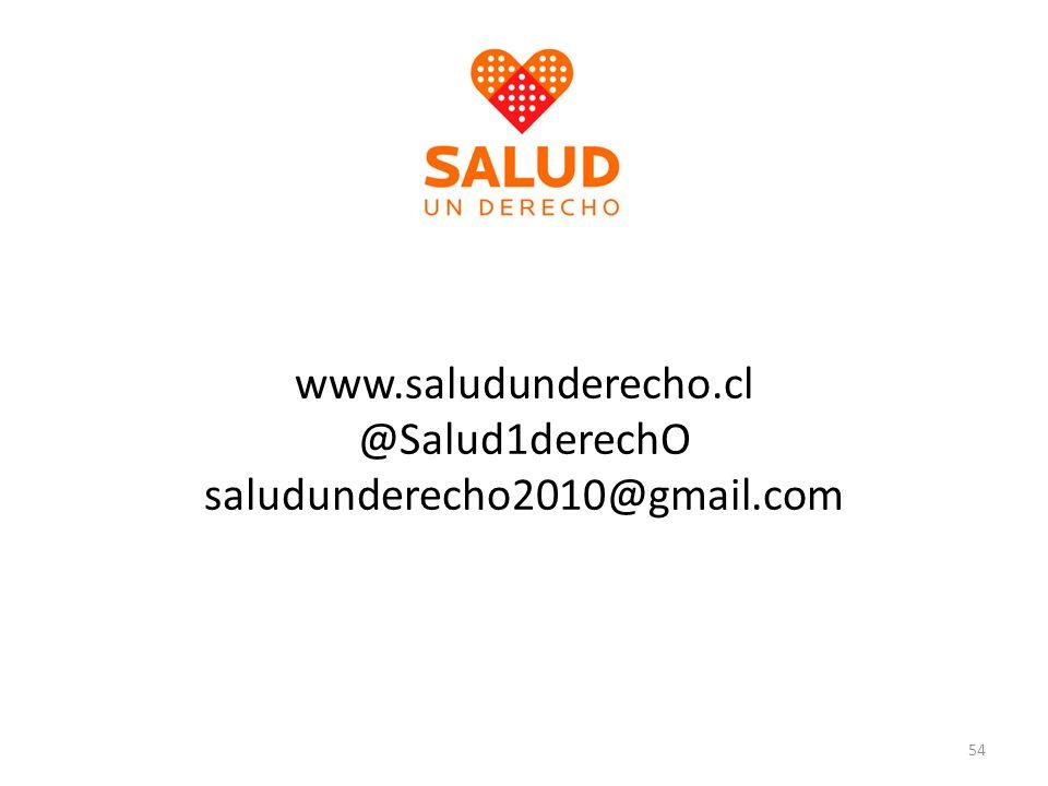 www.saludunderecho.cl @Salud1derechO saludunderecho2010@gmail.com