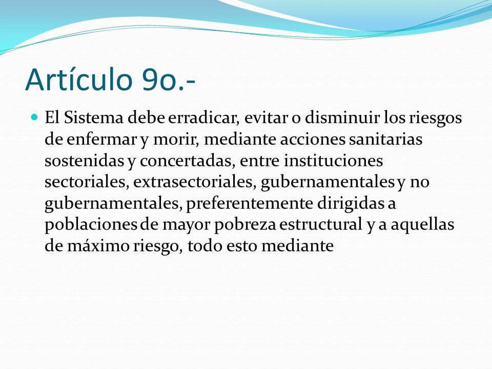 Artículo 9o.-