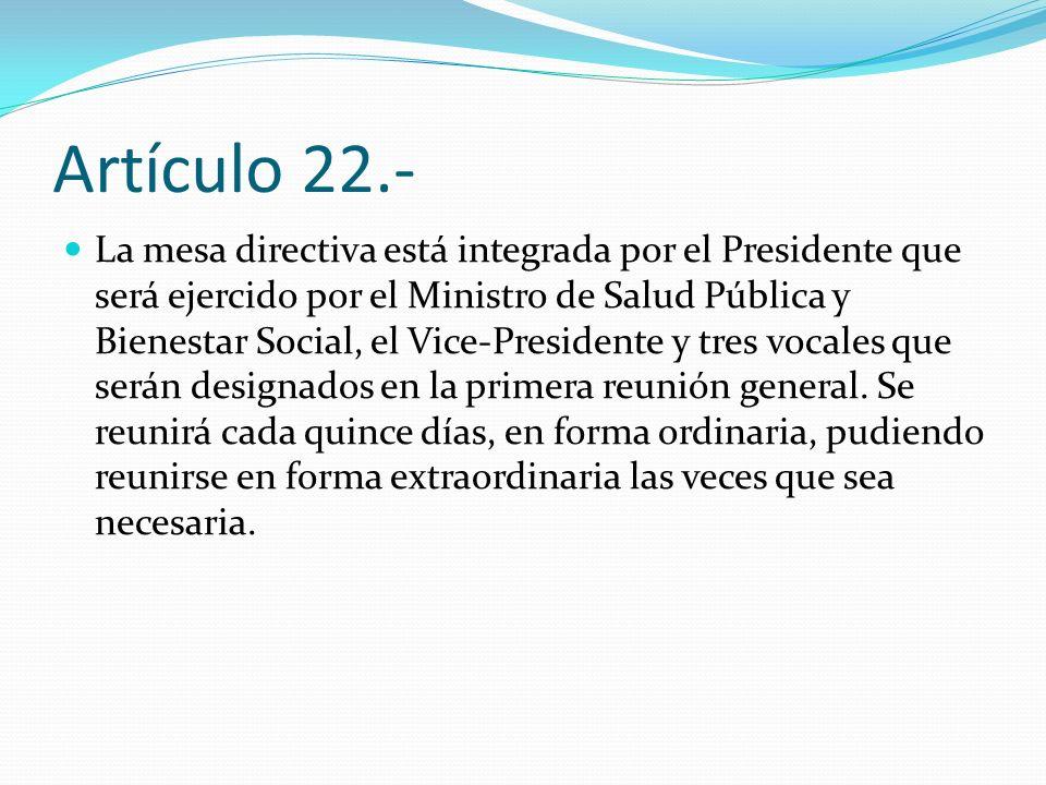 Artículo 22.-