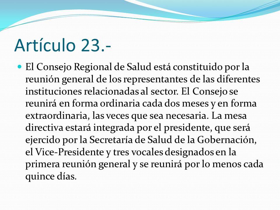 Artículo 23.-