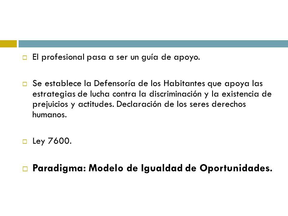 Paradigma: Modelo de Igualdad de Oportunidades.