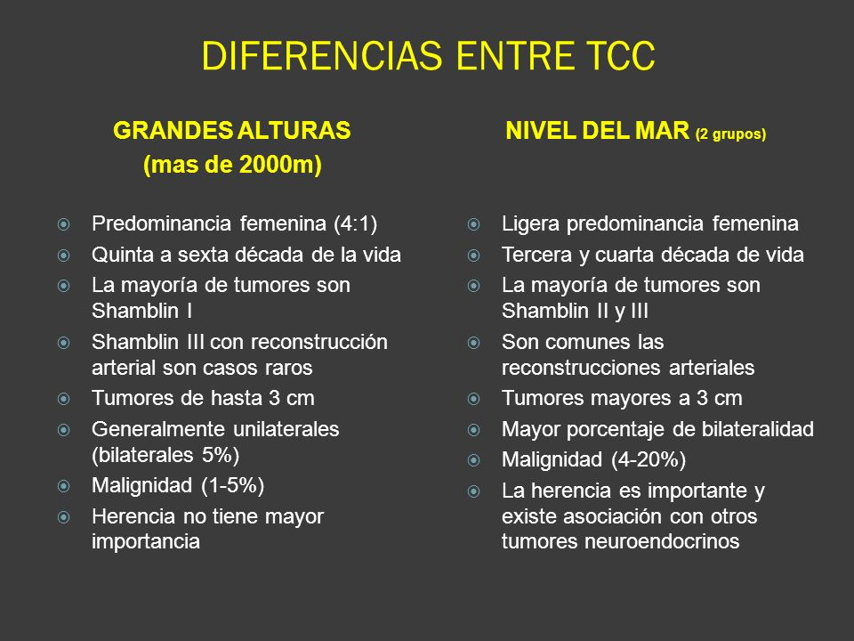 DIFERENCIAS ENTRE TCC GRANDES ALTURAS (mas de 2000m)