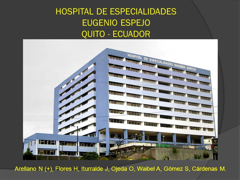 HOSPITAL DE ESPECIALIDADES EUGENIO ESPEJO QUITO - ECUADOR