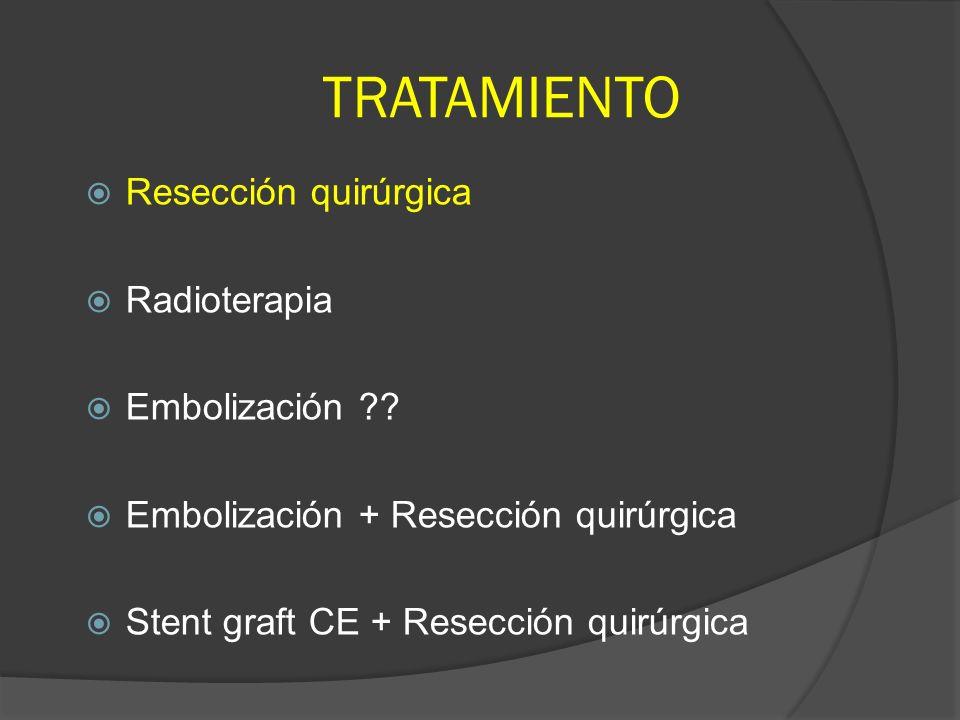 TRATAMIENTO Resección quirúrgica Radioterapia Embolización