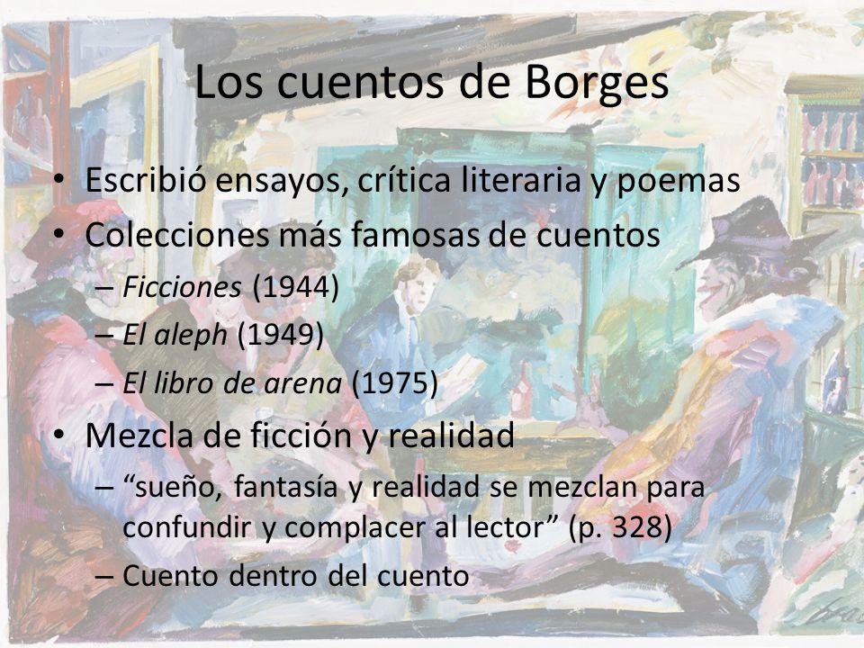 Los cuentos de Borges Escribió ensayos, crítica literaria y poemas