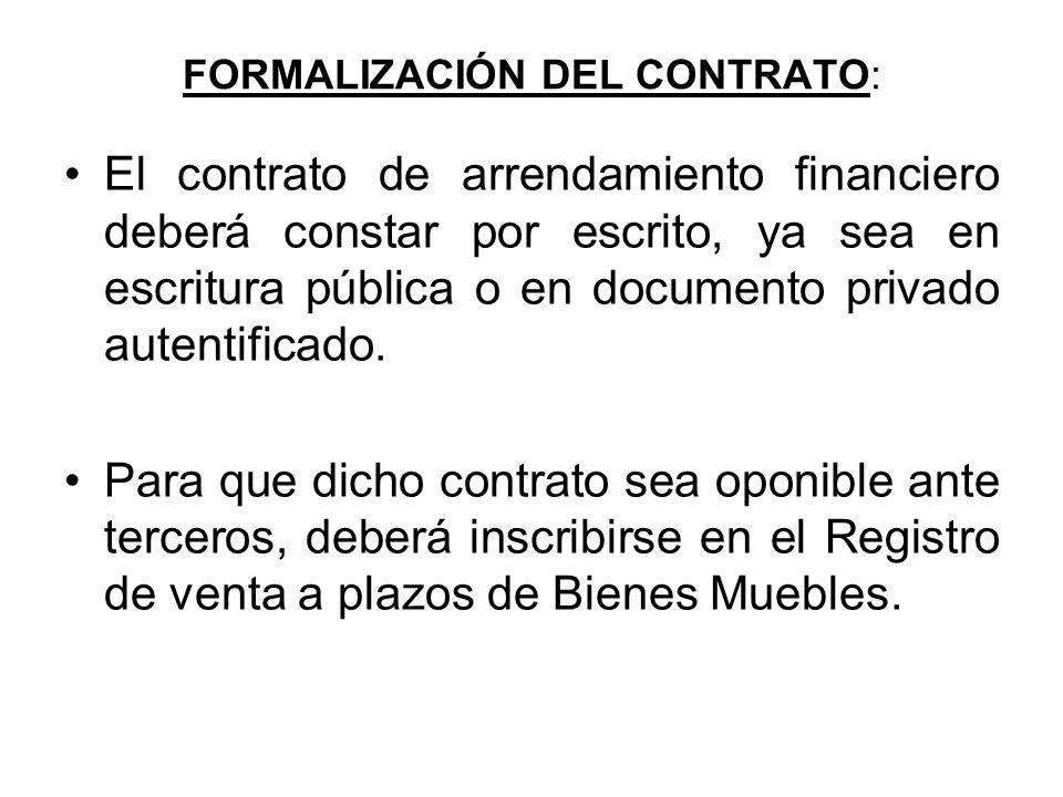 contrato de leasing o arrendamiento financiero ppt descargar