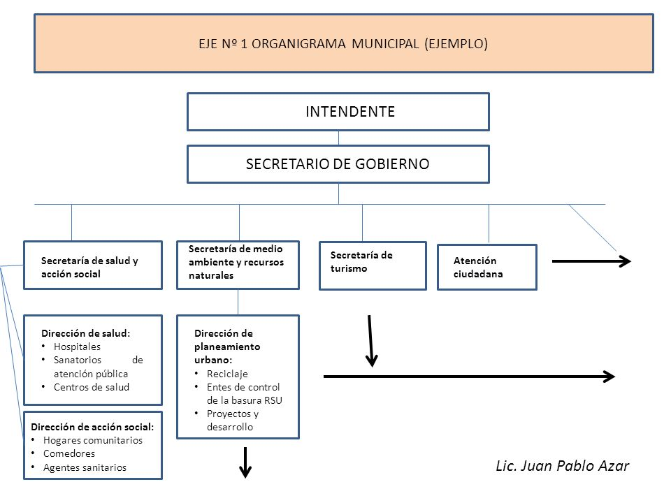 EJE Nº 1 ORGANIGRAMA MUNICIPAL (EJEMPLO)