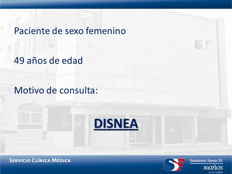 Paciente de sexo femenino