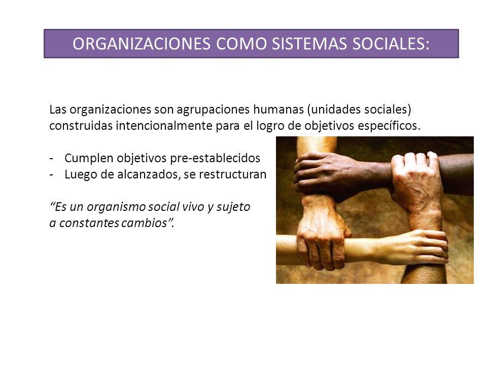 ORGANIZACIONES COMO SISTEMAS SOCIALES: