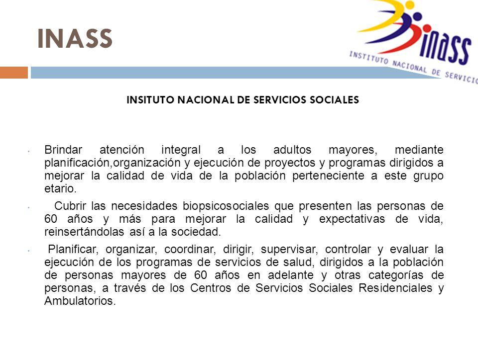 INSITUTO NACIONAL DE SERVICIOS SOCIALES