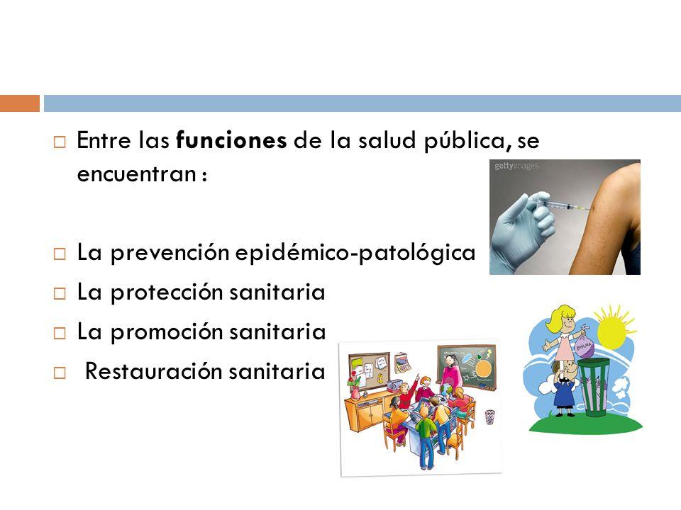 Entre las funciones de la salud pública, se encuentran :