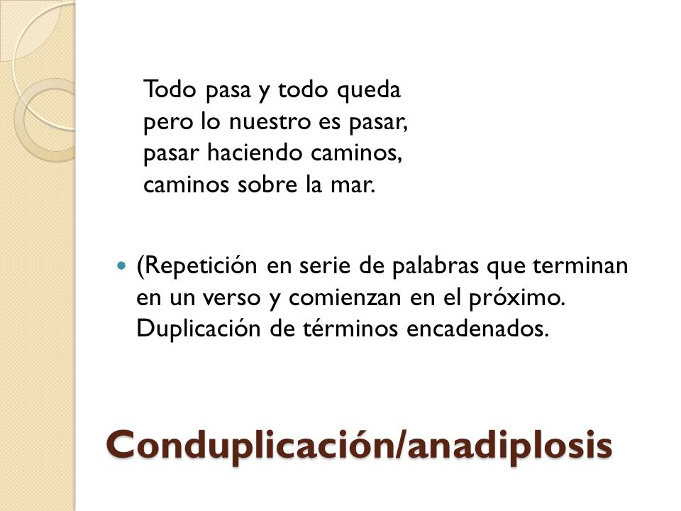 Conduplicación/anadiplosis