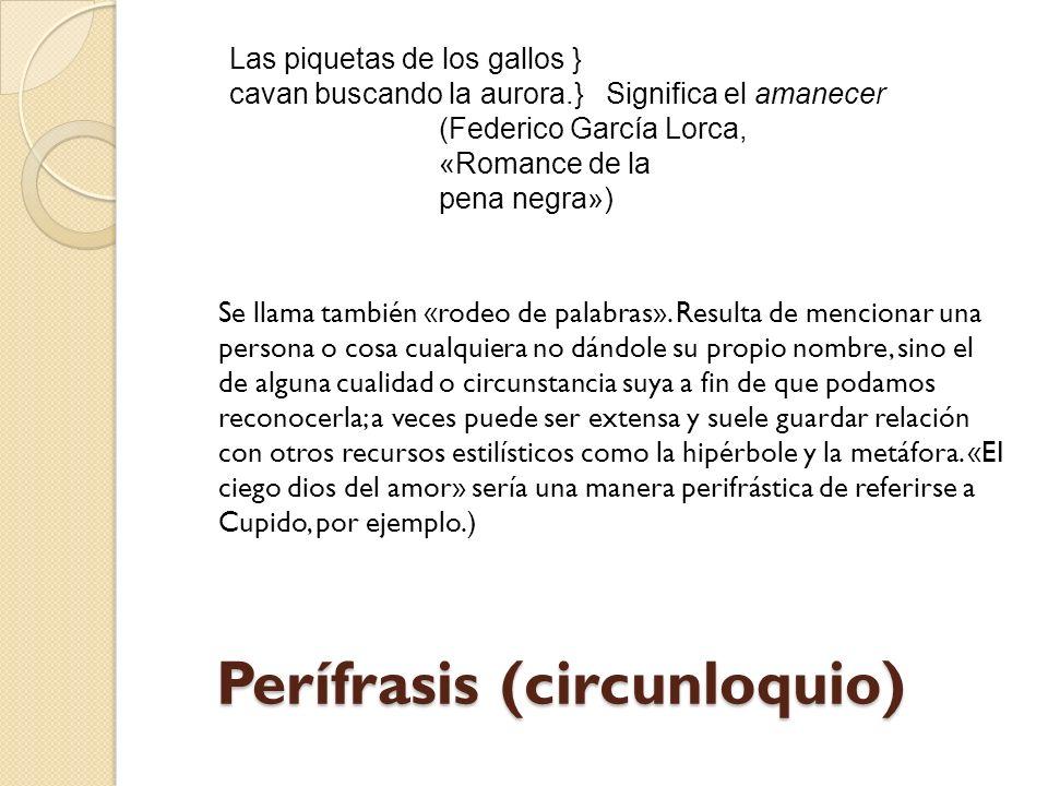 Perífrasis (circunloquio)
