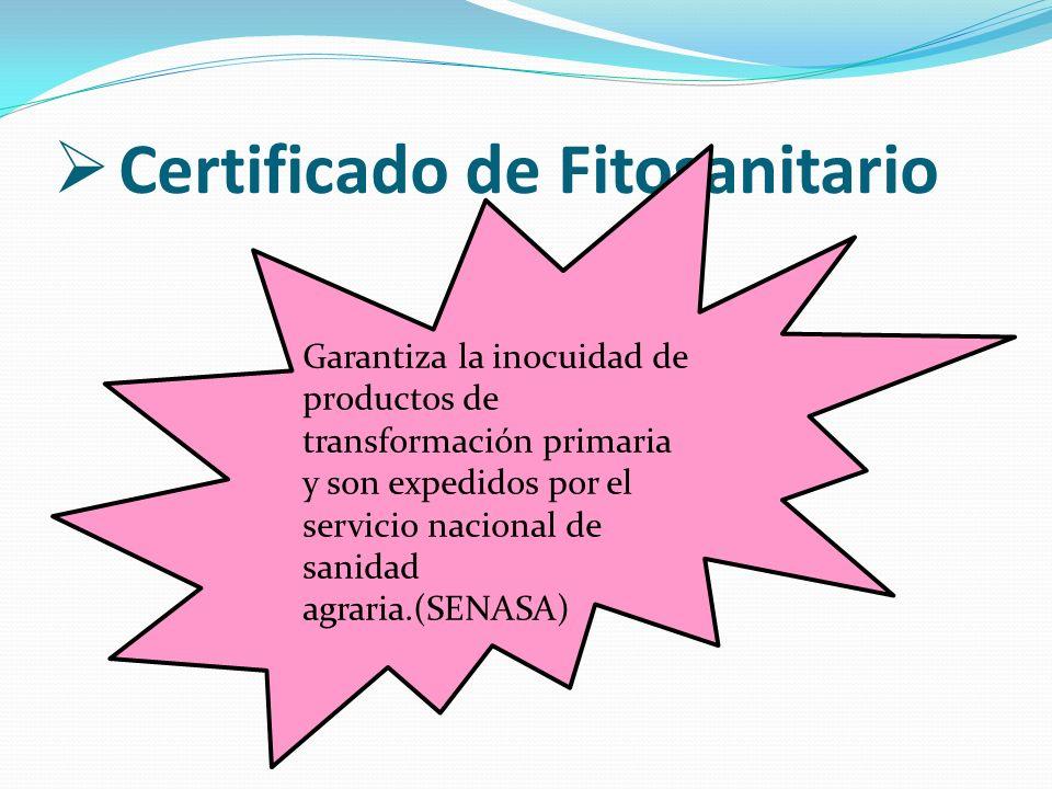 Certificado de Fitosanitario