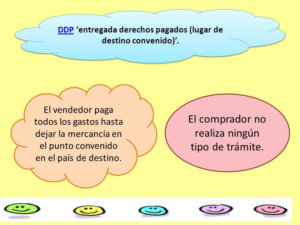 DDP 'entregada derechos pagados (lugar de destino convenido)'.