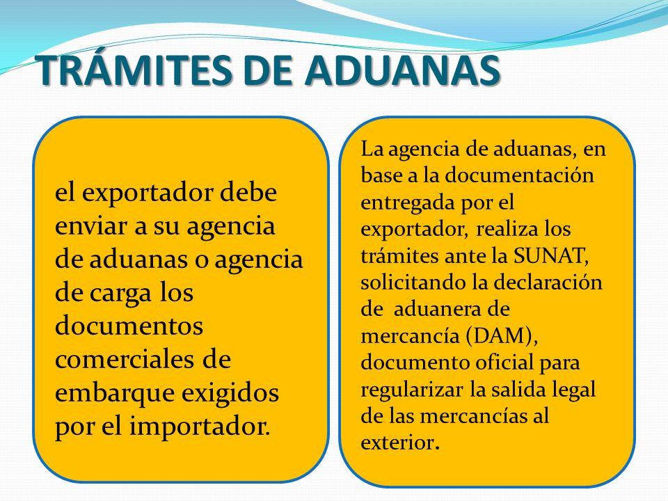TRÁMITES DE ADUANAS