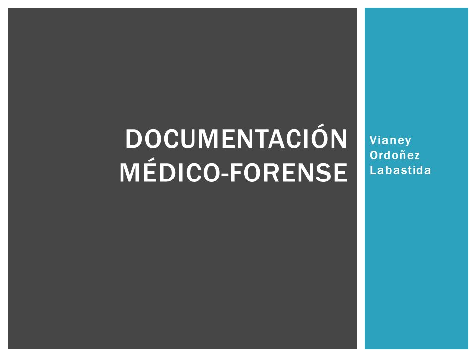 Documentación médico-forense