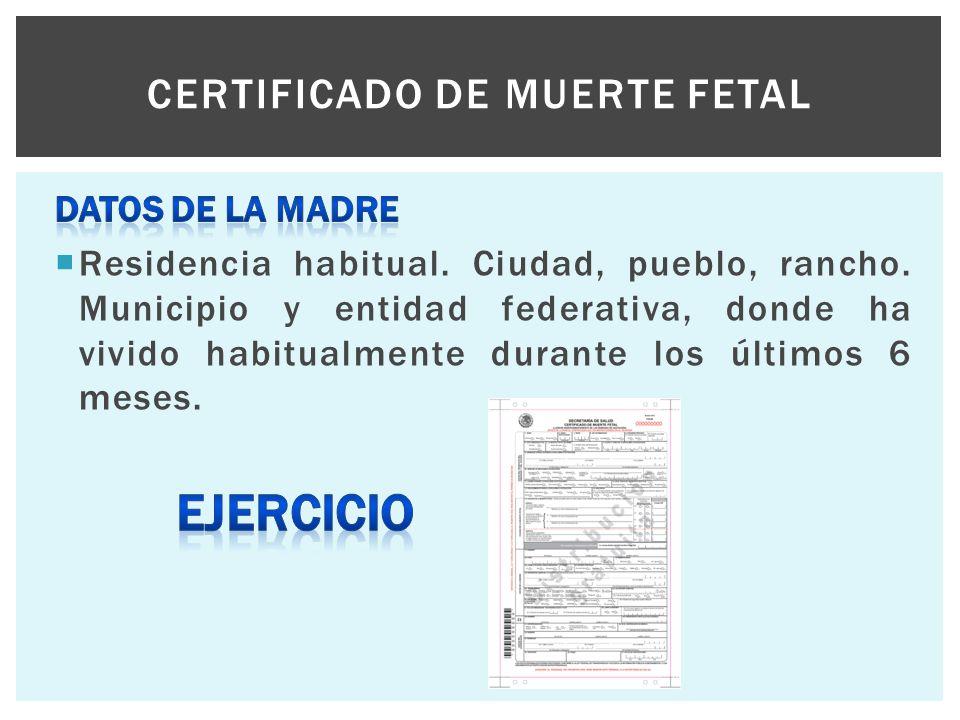 Certificado de muerte fetal