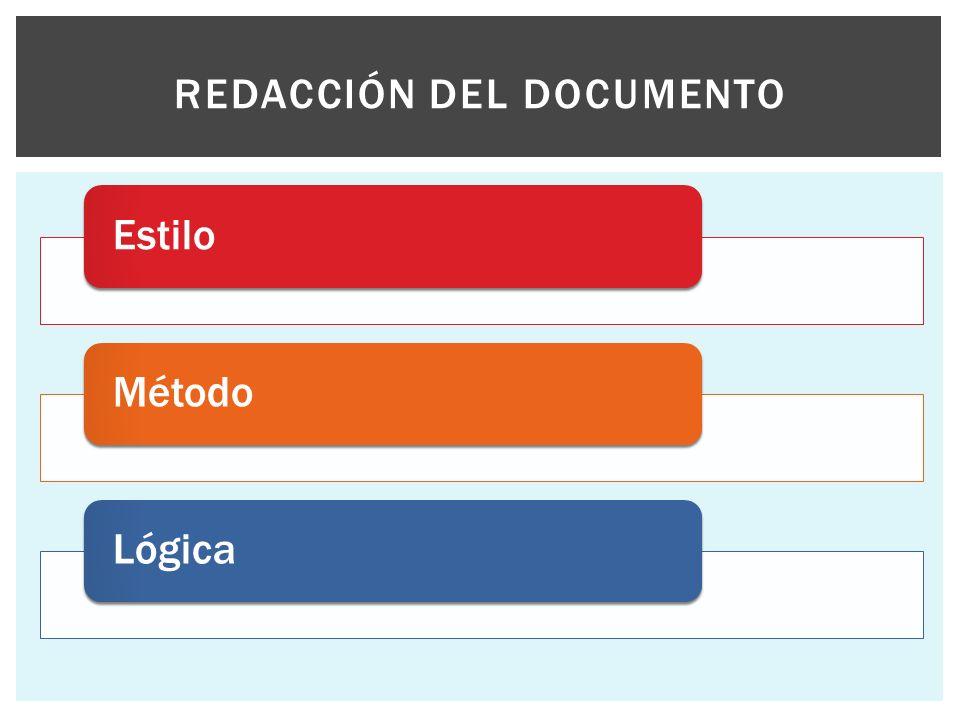 Redacción del documento