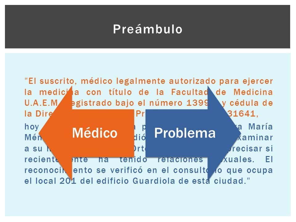 Médico Problema Preámbulo
