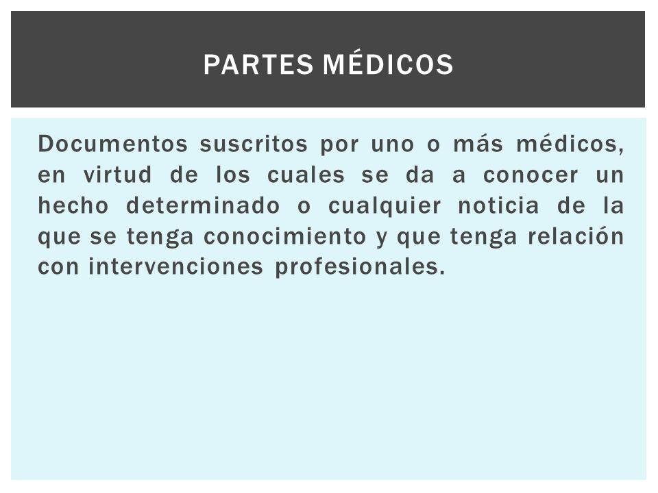 Partes médicos