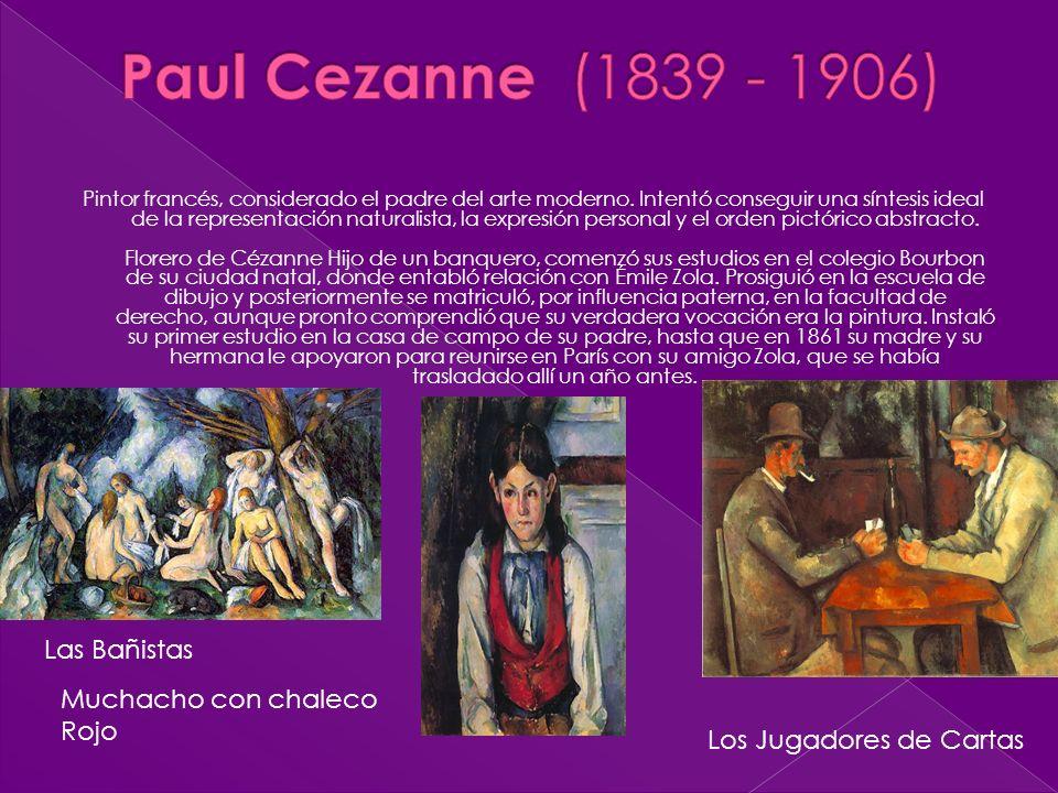 Paul Cezanne (1839 - 1906) Las Bañistas Muchacho con chaleco Rojo