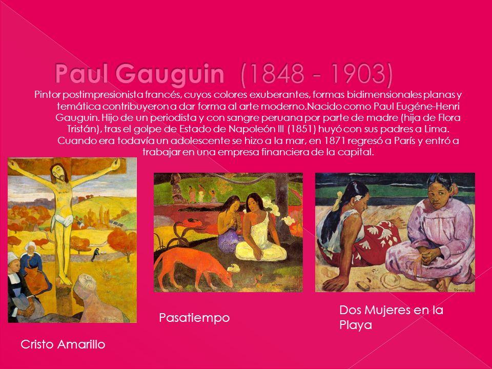 Paul Gauguin (1848 - 1903) Dos Mujeres en la Playa Pasatiempo