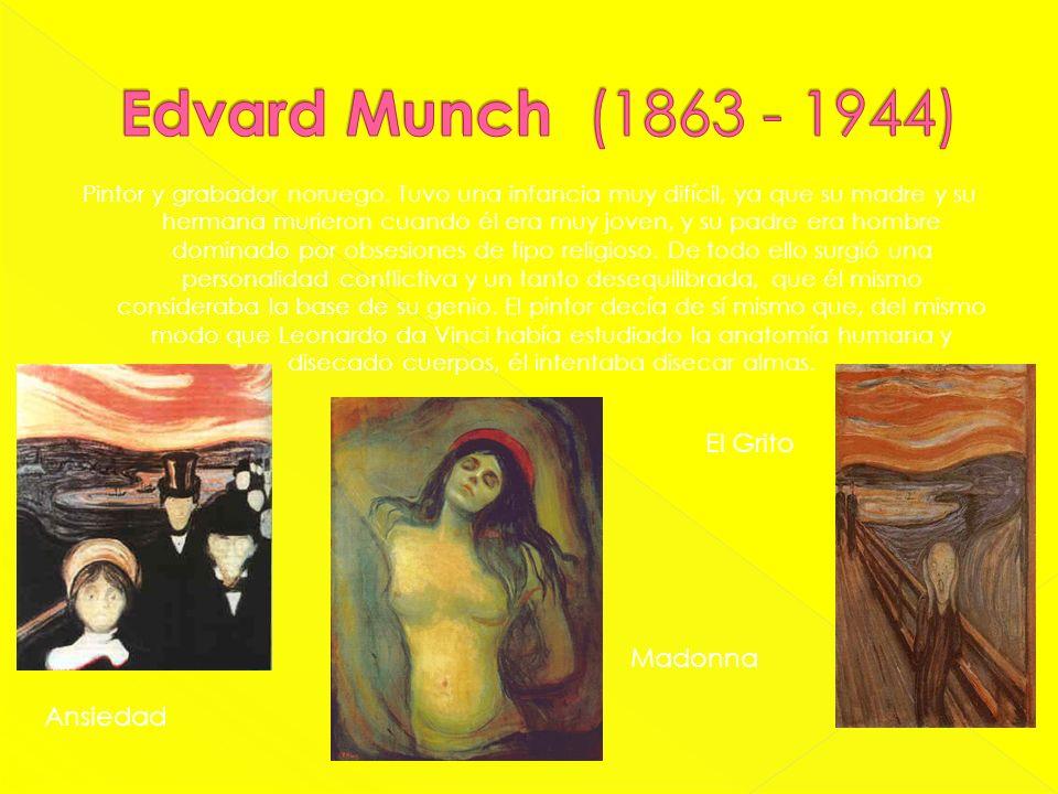 Edvard Munch (1863 - 1944) El Grito Madonna Ansiedad