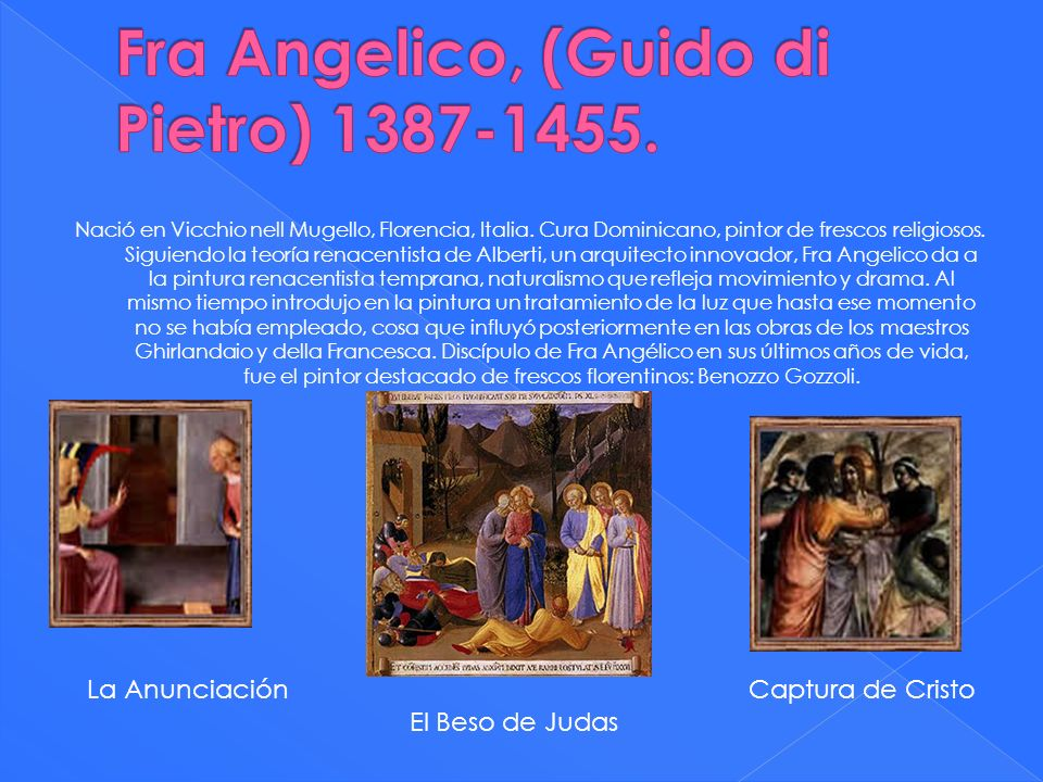 Fra Angelico, (Guido di Pietro) 1387-1455.