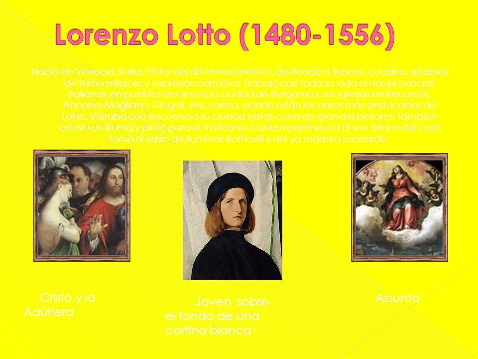 Lorenzo Lotto (1480-1556) Cristo y la Adúltera Assunta