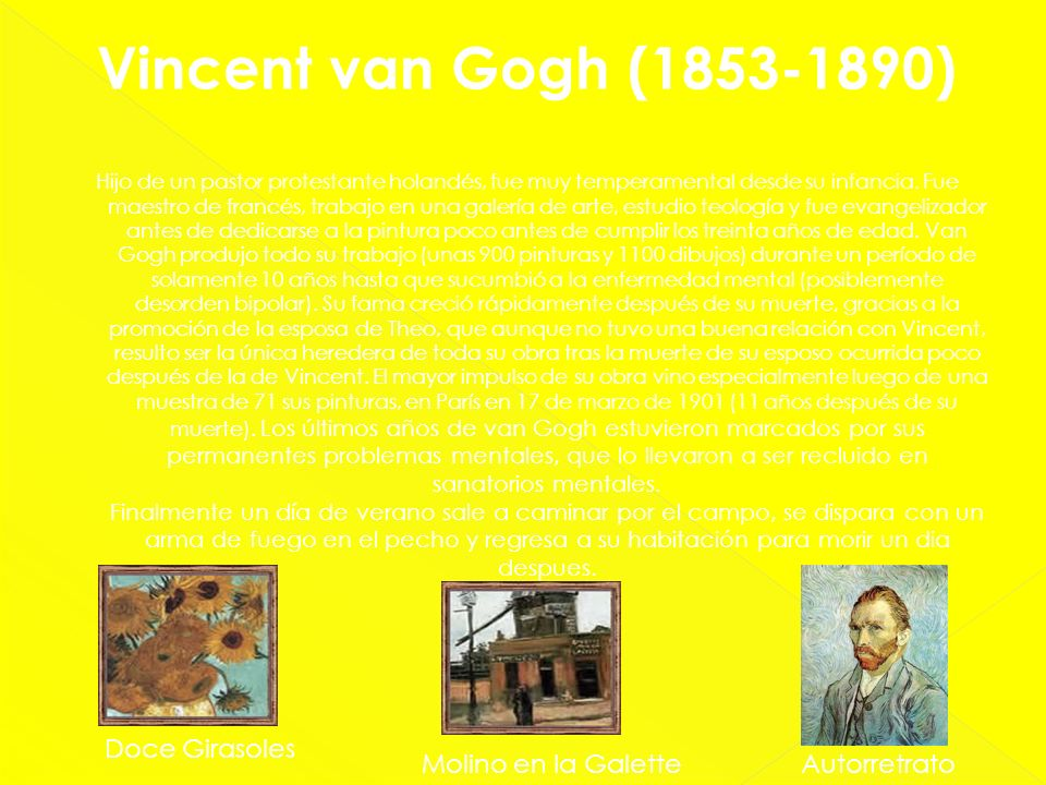 Vincent van Gogh (1853-1890) Doce Girasoles Molino en la Galette